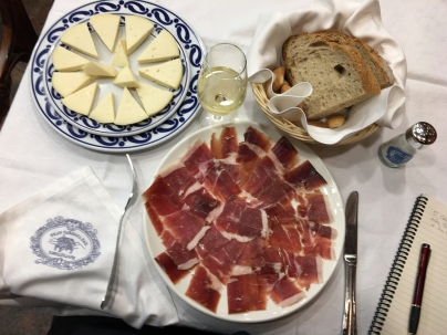 Jamón and cheese