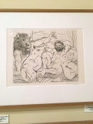 Picasso drawing – one of a vast collection at Valdespino