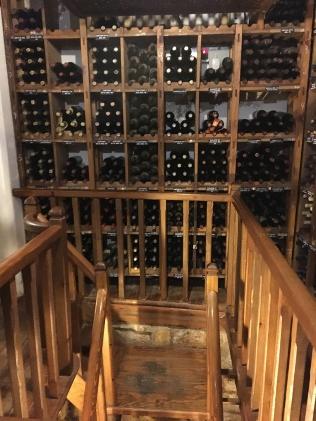 El Churrasco's wine cellar