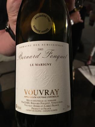 Bernard Fouquet Le Marigny Vouvray 2003