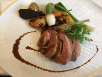 Duck breast stuffed with foie gras