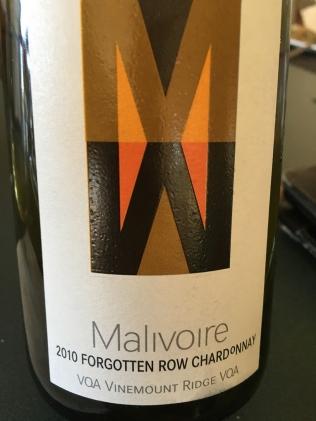Malivoire Forgotten Row Chardonnay 2010